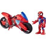 Hasbro Spielfigur Playskool Heroes Marvel Super Hero Adventures Spider-Man Swingin' Speeder