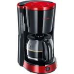 Severin Filtermaschine Kaffeemaschine KA 4492 schwarz-rot