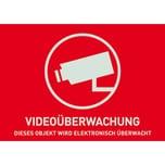 Abus Aufkleber Warnaufkleber Videoüberwachung -D- 74x52,5mm
