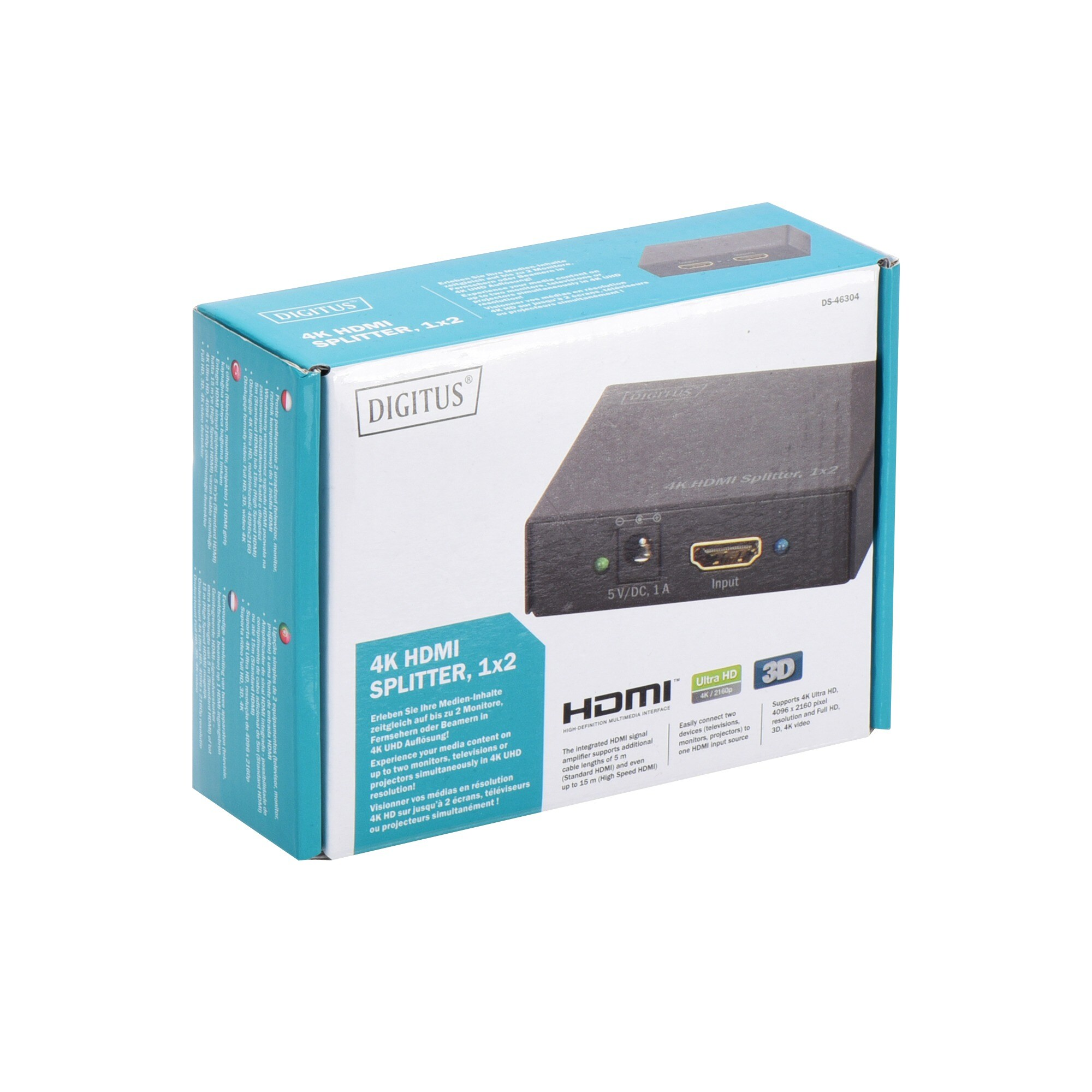 Digitus Splitter & Switches HDMI Splitter 4K UHD 1x HDMI > 2x HDMI
