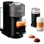 DeLonghi Kapselmaschine Nespresso Vertuo Next & Aeroccino ENV 120.GYAE