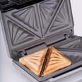 Cloer Sandwichmaker 6219 silber Kunststoff antihaft