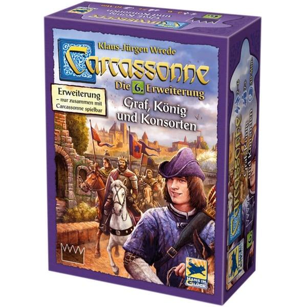 Asmodee GmbH Brettspiel Carcassonne - Graf, König und Konsorten