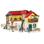 Schleich Spielfigur Farm World Bauernhaus mit Stall und Tieren