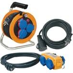 Brennenstuhl Kabeltrommel Power-Pack-Set IP44 / Kabeltrommel Baustellenset