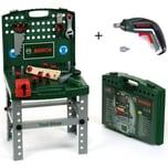 Theo Klein Kinderwerkzeug Bosch Werkbank klappbar mit Ixolino II