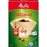 Melitta Kaffeefiltertüten 1X4/40 Braun 40er