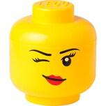 """Room Copenhagen Aufbewahrungsbox Lego Storage Head """"Whinky"""", klein"""