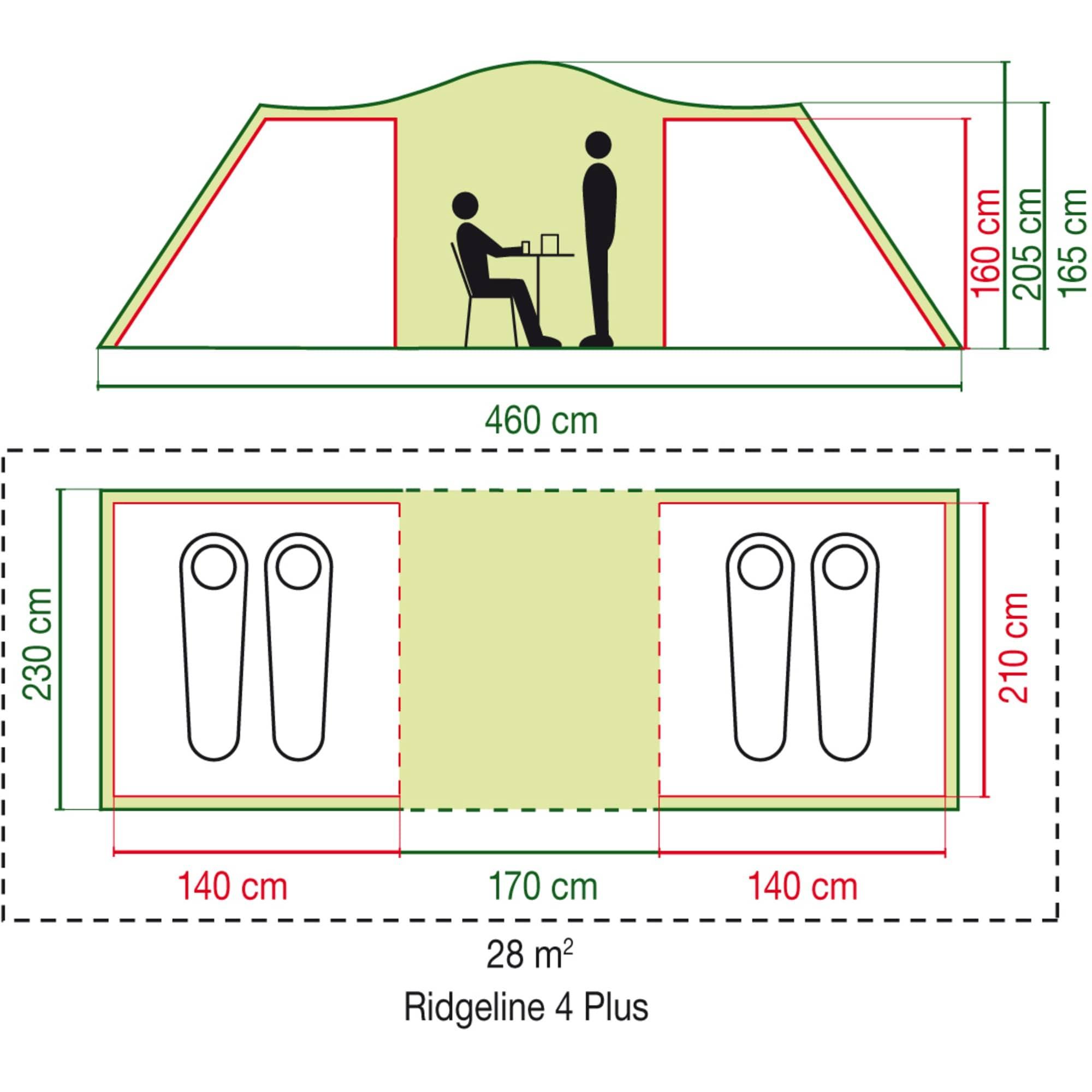 Coleman Zelt Kuppelzelt Ridgeline 4 Plus