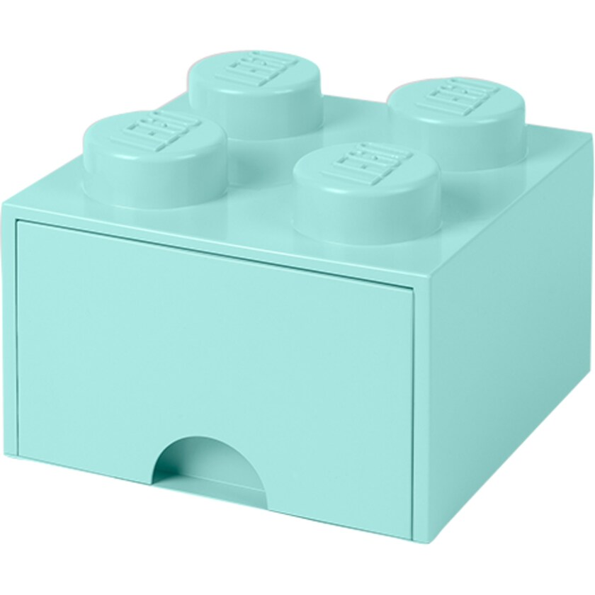 Room Copenhagen Aufbewahrungsbox LEGO Brick Drawer 4 aquablau