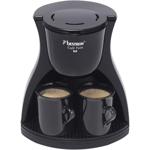 Bestron Filtermaschine ACM8007BE Café Twin schwarz