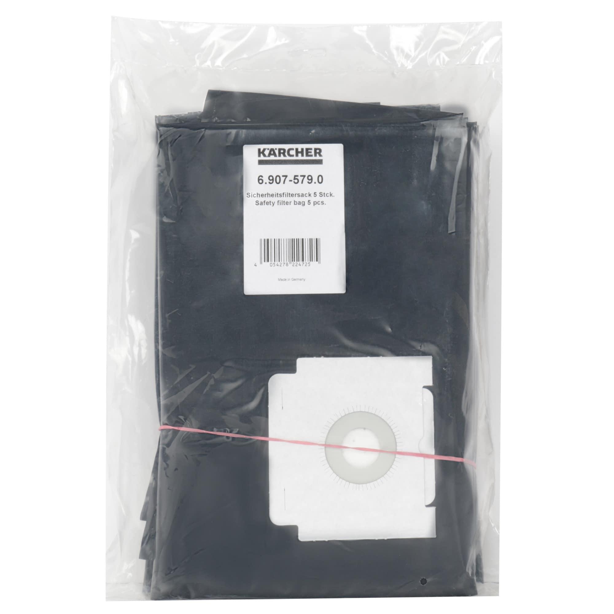 Kärcher Staubsaugerbeutel Sicherheitsfiltersack 6.907-579.0 mit Entsorgungsbeutel