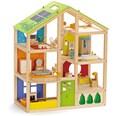 Hape Puppenzubehör Vier-Jahreszeiten Haus möbliert