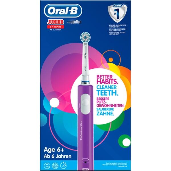 Braun Elektrische Zahnbürste Oral-B Junior lila