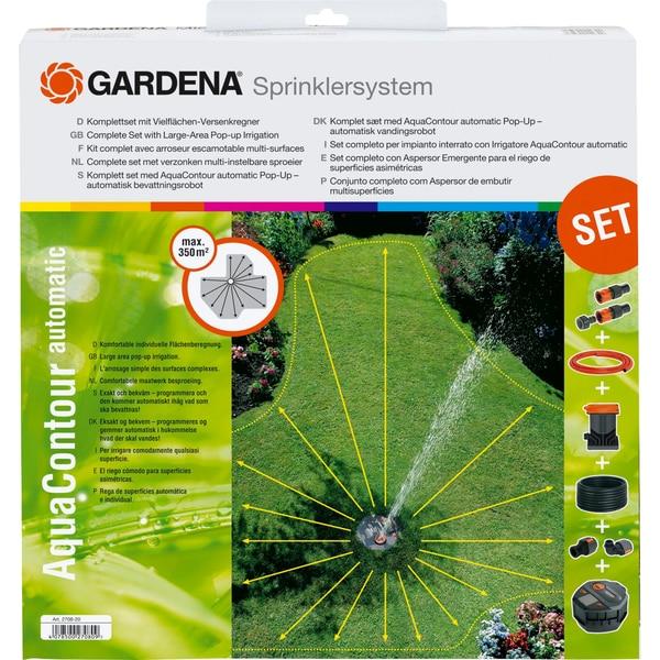 Gardena Sprinklersystem Komplett-Set Vielflächen- Versenkregner AquaContour automatic