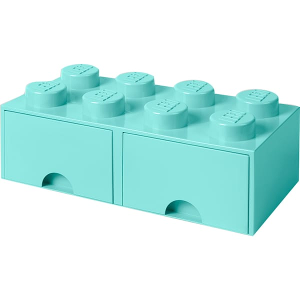 Room Copenhagen Aufbewahrungsbox LEGO Brick Drawer 8 aquablau