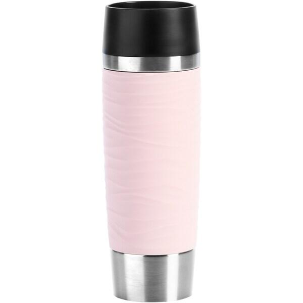 Emsa Becher Thermobecher Travel Mug Waves Grande rosa