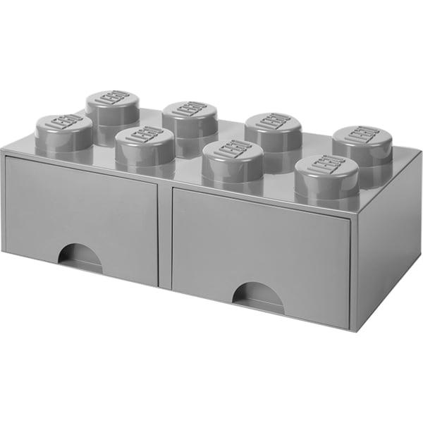 Room Copenhagen Aufbewahrungsbox LEGO Brick Drawer 8 grau