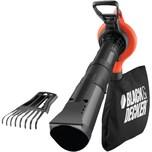 Black & Decker Laubsauger/Laubbläser 3-in-1 Laubsauger mit Laubsammel-System (GW3050)