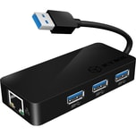 ICY BOX Adapter IB-AC517 USB 3.0 > RJ45 + 3x USB 3.0