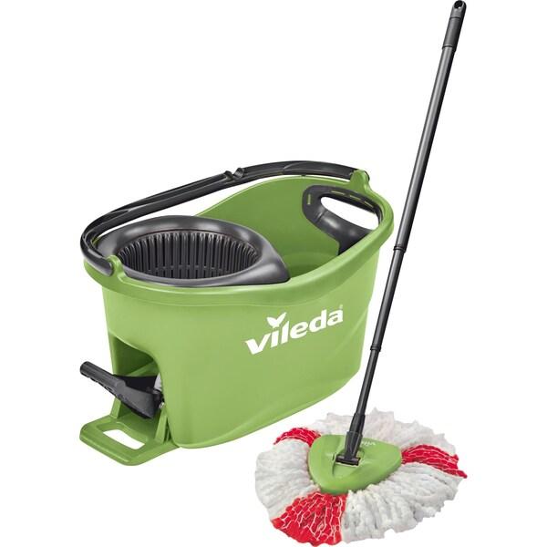 Vileda Bodenwischer Wischmop-Set Turbo Easy Wring & Clean Box grün