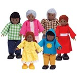 Hape Puppenfamilie Dunkle Hautfarbe