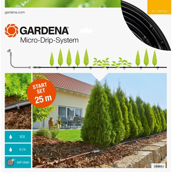 Gardena Tropfsystem Micro-Drip-System Start-Set Pflanzreihen M