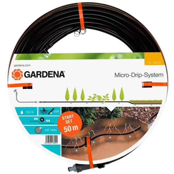 Gardena Tropfsystem Tropfrohr Set unterirdisch 13,7mm