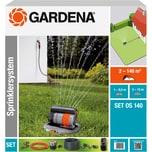 Gardena Sprinklersystem Komplett-Set mit Versenk-Viereckregner OS 140