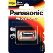Panasonic Batterie Lithium Photo CR123AL/1BP