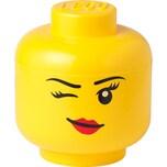 """Room Copenhagen Aufbewahrungsbox LEGO Storage Head """"Whinky"""", groß"""