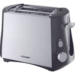 Cloer Toaster 3410 silber Kunststoff Stoppfunktion