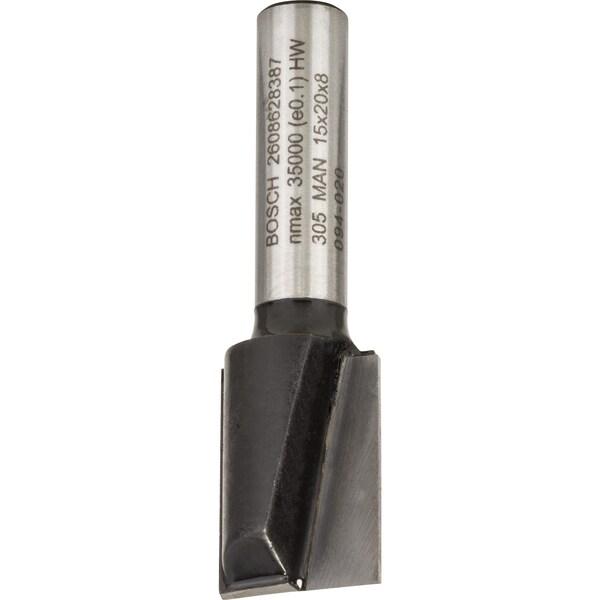 Bosch Nutfräser Standard for Wood, 8mm x 15mm x 51mm