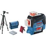 Bosch Linienlaser GLL 3-80 C Professional + Baustativ BT 150