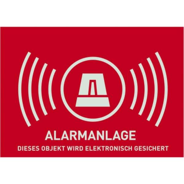 Abus Aufkleber Warnaufkleber Alarmanlage -D- 148x105mm