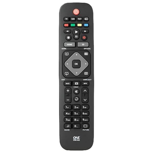 ONE FOR ALL Fernbedienung Ersatzfernbedienung für alle Philips TVs
