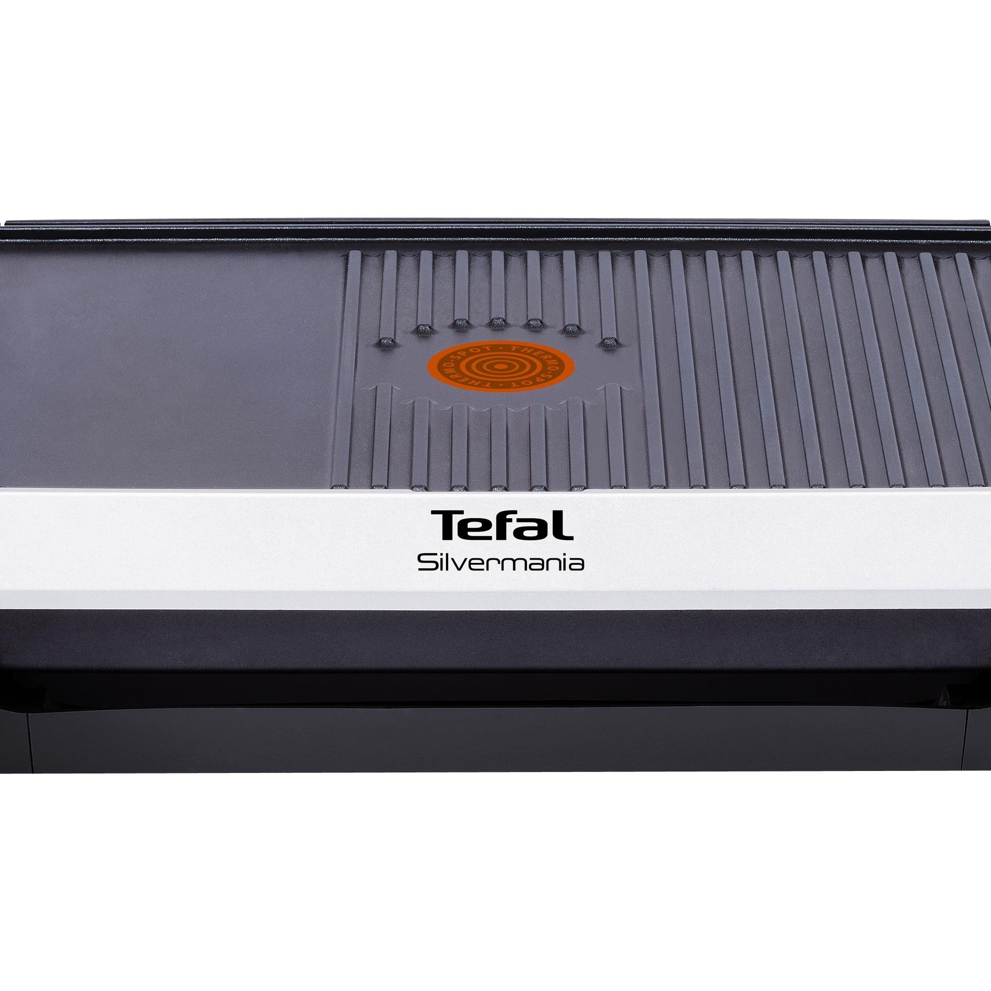 Tefal Elektro-Tischgrill Silvermania CB 6718 schwarz Kunststoff Silvermania
