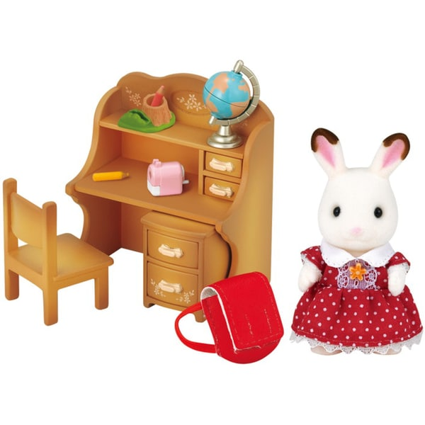 Epoch Traumwiesen Sylvanian Families Schokoladenhasen Schwester mit Schreibtisch