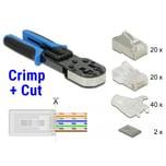 DeLOCK Crimp-Zange RJ45 Crimp+Cut Werkzeugset