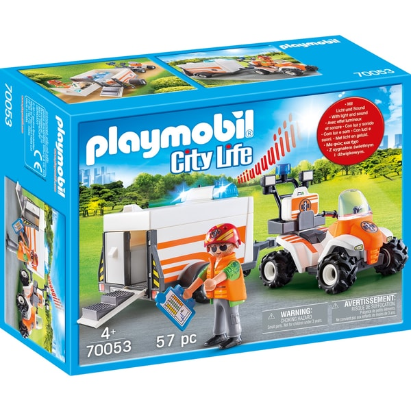 Playmobil Quad mit Rettungsanhänger