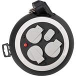 Brennenstuhl Comfort Line Kabelbox 3-fach mit USB / Mini-Kabeltrommel