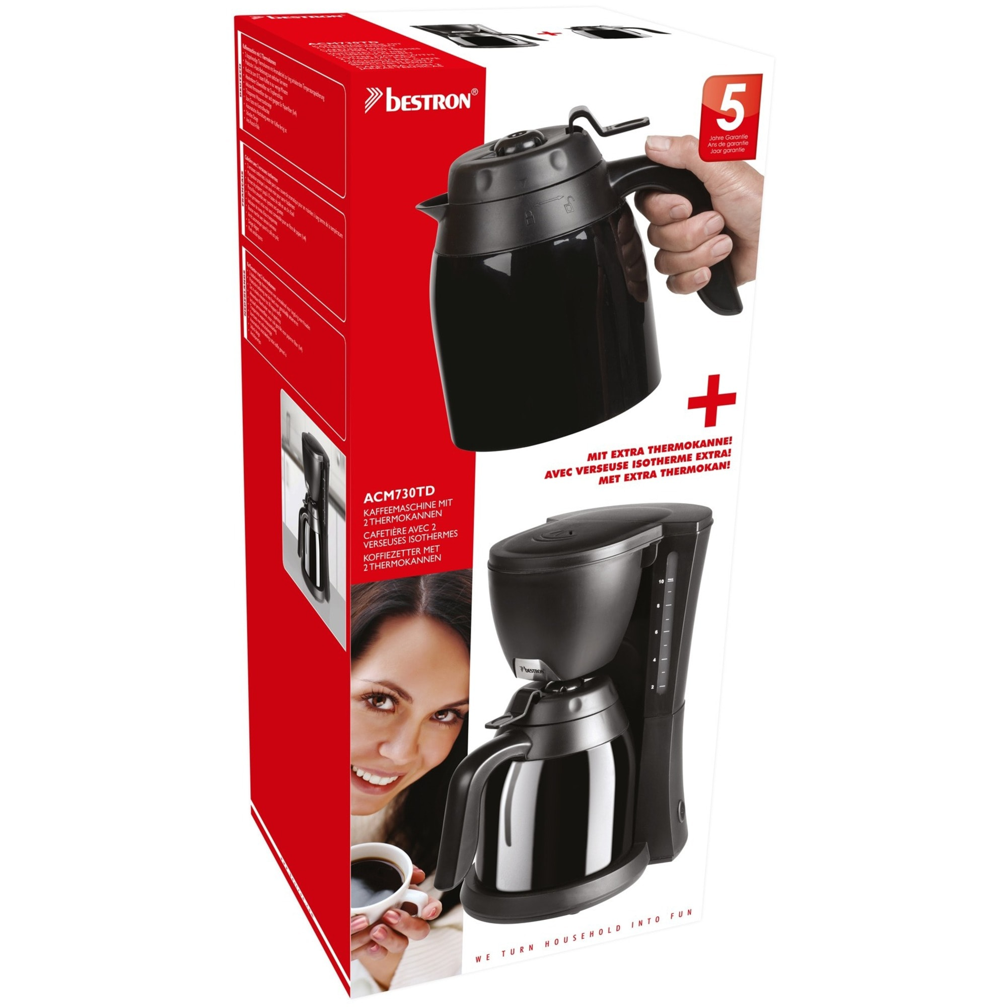 Bestron Filtermaschine ACM730TD schwarz