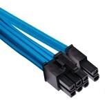 Corsair Y-Kabel Premium Sleeved PCIe-Dualkabel Typ 4 Gen 4 blau