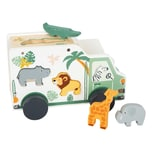 Legler Small Foot Steckspiel Spielauto Safari