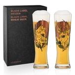 Ritzenhoff Black Label Weizenbierglas-Set Tobias Tietchen 669 ml