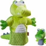 HABA Handpuppe Krokodil mit Baby