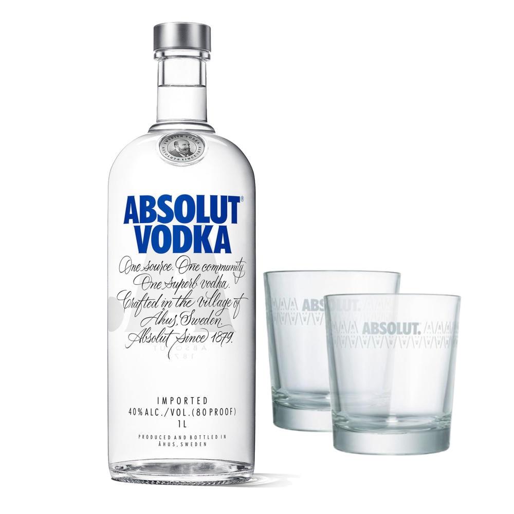 Absolut Vodka Original Set Mit 2 Gläsern 40 1 L Bei Rewe Online Bestellen