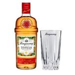 Tanqueray Flor de Sevilla Set mit Bar Glas 41.3% 700 ml