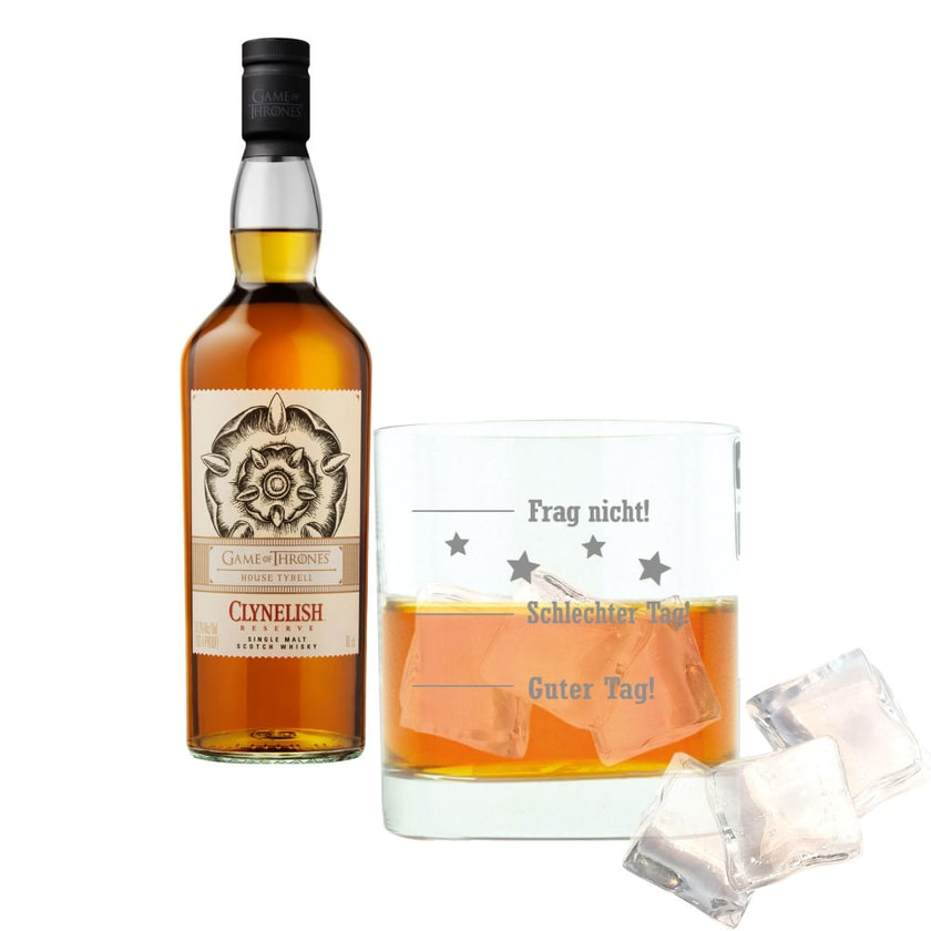Clynelish Reserve Haus Tyrell Game of Thrones mit Whiskyglas, 51.2% 700 ml