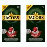Jacobs Lungo 6 Classico 2 x 10 Kapseln